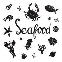 seafood vector collection design
