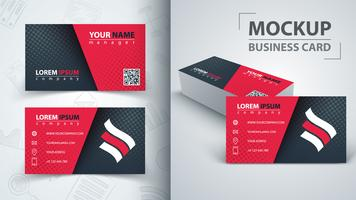 Business card template. Idea for your print.