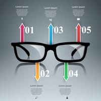 Glasses icon. Abstract  illustration Infographic. vector