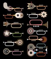 Trumpets vector background design elements