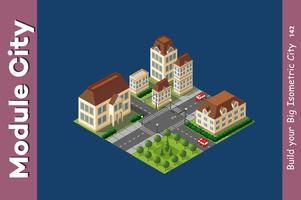 Barrio de la ciudad de megapolis vector