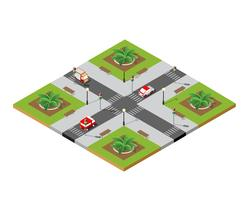 Calle de la ciudad de cruce