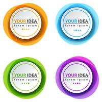 Circle color banner - business infographic. vector