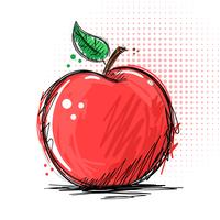 Ink and marker - apple illustration vector