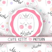 Cute little princess - seamless pattern