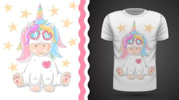 Unicornio lindo - idea para camiseta estampada