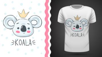 Cute koala - idea for print t-shirt.
