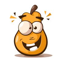 Cute, funny pear cartoon characters.
