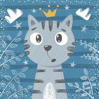 Söt liten prinsessa - katttecken