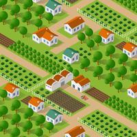 Natura vettoriale isometrica rurale