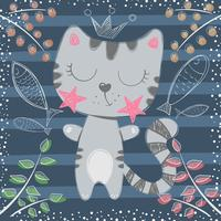 Schattige kleine prinses - kat tekens