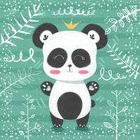 Cute panda pattern - little princess.