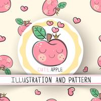 Cute apple - seamless texture pattern
