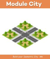 Isometric 3D set park vector