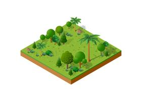 Isometric 3D set park