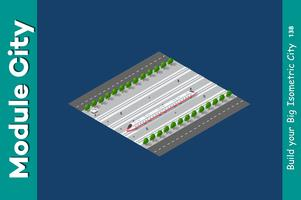 Isometric 3D transport train
