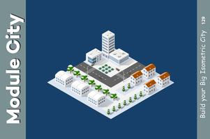 Winter isometric city