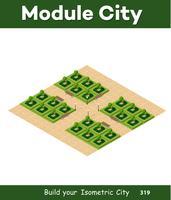 Parco isometrico 3d con un verde