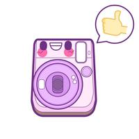 schattige camera sticker emoticon