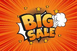 Big sale comic speech bubble design - Vector