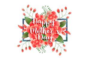 glad mors dag blommig hälsning design