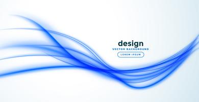abstract blauw lijngolfbannerontwerp
