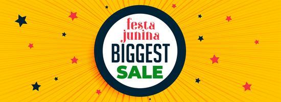 festa junina festival venda banner