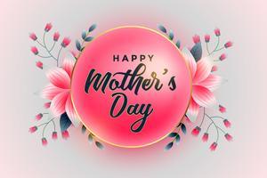 lyxig lycklig mors dag blommig hälsning