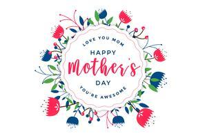elegant lycklig mors dag blommig hälsning
