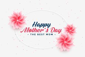 vacker lycklig mors dag blomma hälsning