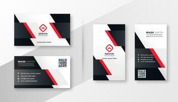 Rote Firma Visitenkarte Design
