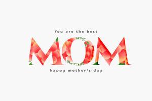 lycklig mors dag bästa mamma kort design