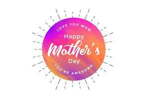 abstrakt lycklig mors dagkortdesign