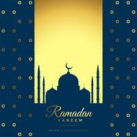 beautiful golden ramadan kareem background