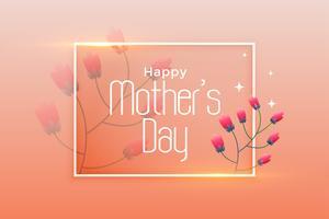 elegant lycklig mors dag affischdesign