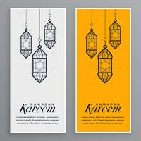 muslimsk festival ramadan kareem banner design