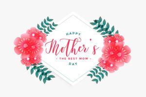 glad mors dag blomma hälsningskort