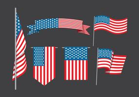American Flag Collection  vector