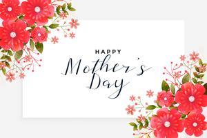 mors dag hälsning med blomsterdekoration
