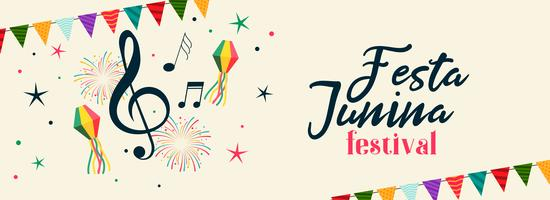 brazilian festa junina musical party banner