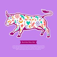 Bumba Meu Boi Bull illustration vector