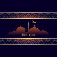 ramadan kareem fond en style arabe