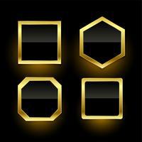 conjunto de rótulos de distintivo vazio dourado