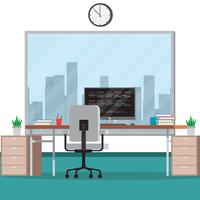 Office Studio Vector Illustration