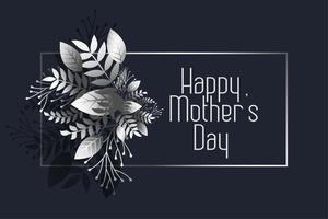 cumprimento escuro do dia das mães feliz impressionante