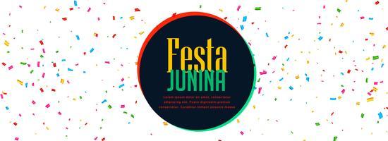 viering banner van festa Junina