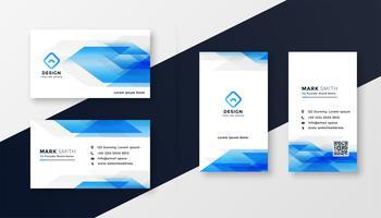création de carte de visite abstrait bleu créatif
