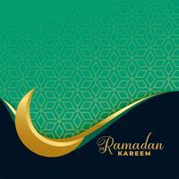 ramadan kareem golden moon islamisk banner