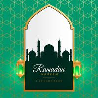 beautiful ramadan kareem golden islamic background