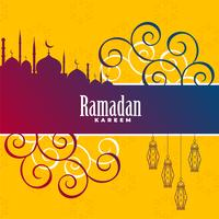 ramadan kareem decorative background design